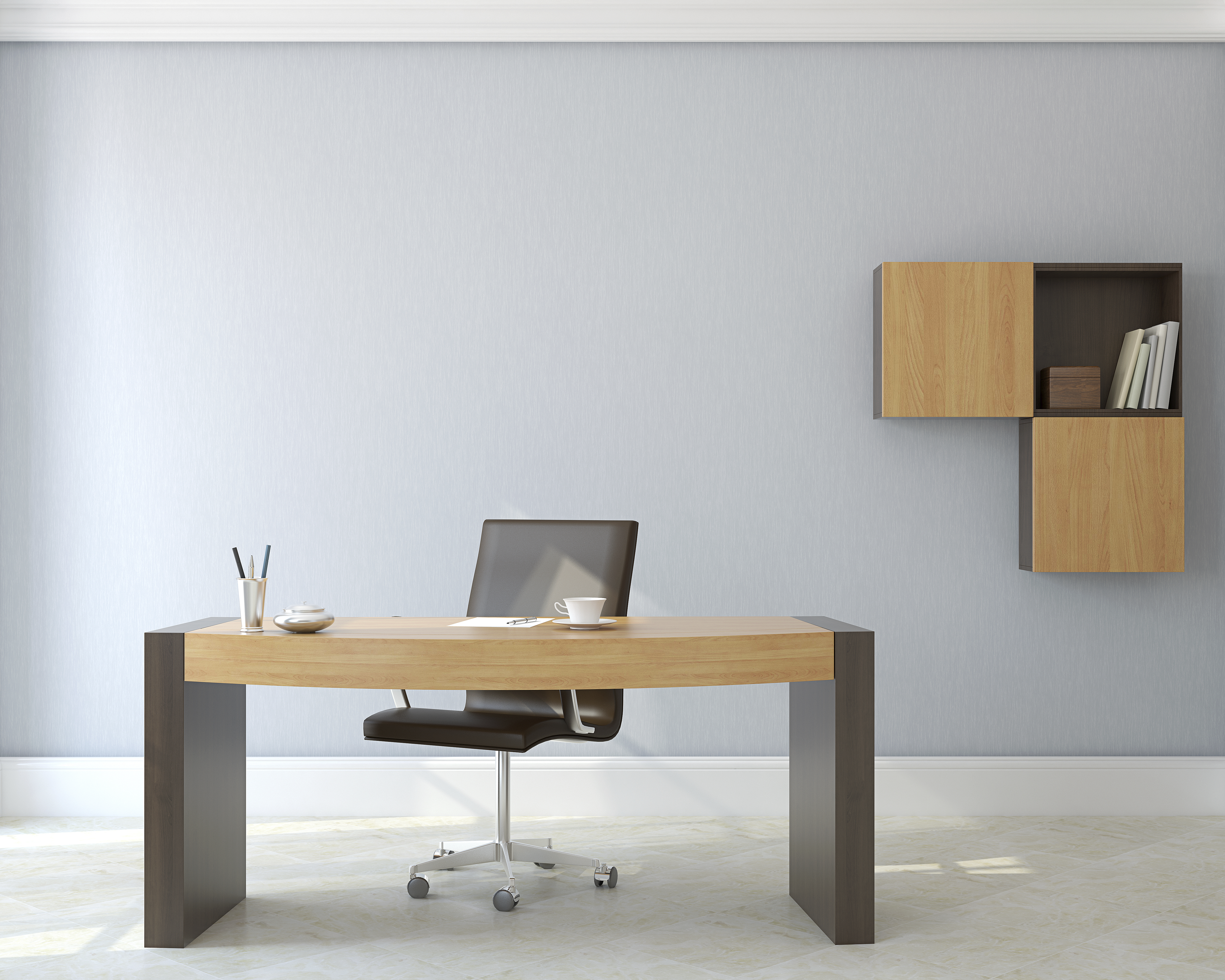 A clean and tidy office space is a necessity.